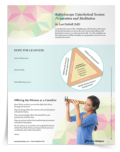 Download the Kaleidoscope Catechetical Session Preparation and Meditation