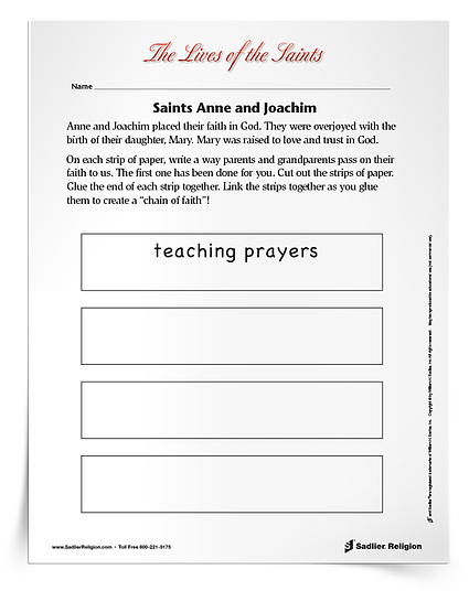 Printable Activities to Celebrate Saint Feast Days in July - Saints Anne and Joachim
