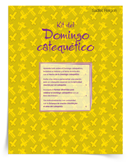 Mejore sus celebraciones con un exclusivo Kit del Domingo catequético en español o en inglés.