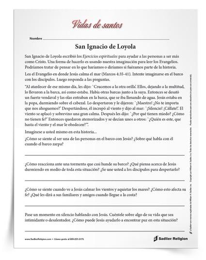 Actividades imprimibles para celebrar los días festivos de los santos en julio  -San Ignacio de Loyola