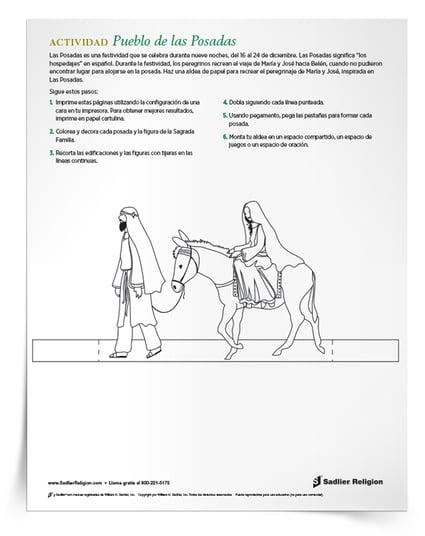 Las Posadas tradicion- Actividad imprimible Pueblo de las Posadas