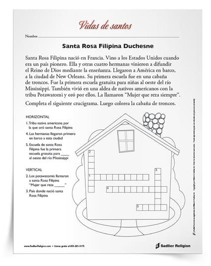 Dias festivos de noviembre- santa rosa filipina duchesne