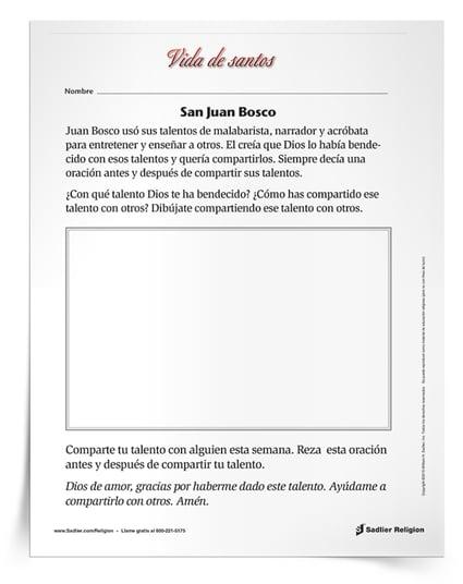 Santos Populares Para Ninos Juan Bosco
