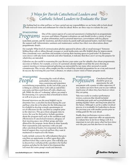 three ways to evaluate your Catholic faith formation program