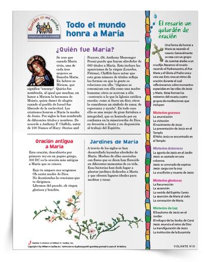 Folletos Honrando a María en todo el mundo