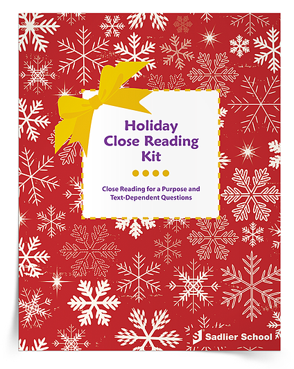holiday close reading lessons pdf