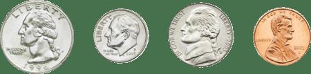 using-coins-quarter-dime-nickle-penny