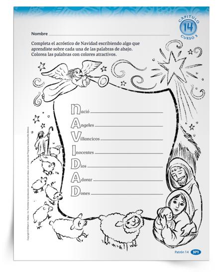 Los niños de todas las edades pueden demostrar lo que han aprendido sobre la temporada navideña con una actividad de un poema acróstico para imprimir, que les invita a escribir algo sobre cada letra de la palabra Navidad. Complete y decore el poema en la clase o en la casa y luego exhíbalo como una decoración navideña. Descargue ahora la Actividad Acróstico de Navidad.
