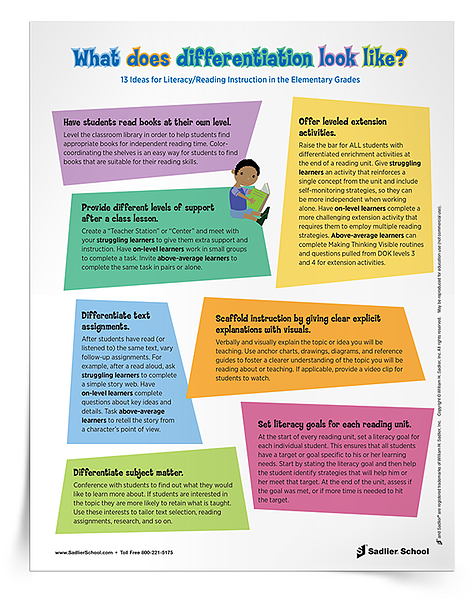 13 Ideas for Differentiated Reading Instruction in the Elementary Classroom