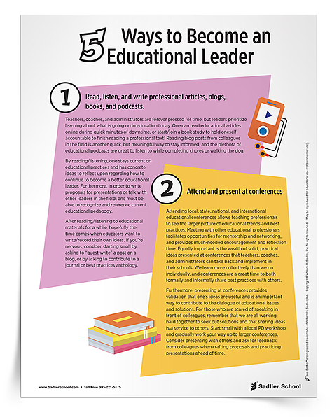5 Ways to Become an Educational Leader