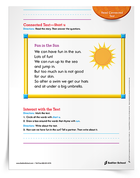 Be on the lookout for more research-based, fun phonics activities, ideas, and downloads in my next blog post! In the meantime (if you're feeling antsy), grab this free Connected Text–Short u Worksheet for your Grade 1 classroom.