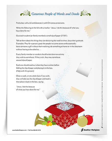 Printable Catholic Christmas Activities