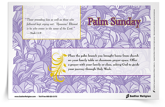 As a way to more fully participate in this sacred time, download Holy Week Reflection Cards and share them with members of your family or parish.