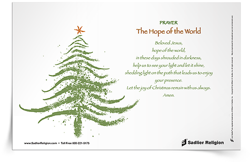 Let us find clarity and light in Jesus Christ, He will open up the doors of hope and love for us, especially this Christmas. Download the Hope of the World Prayer Card and share it with your family.