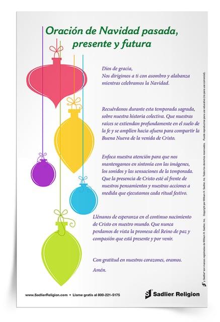 Descargue la Oración de Navidad pasada, presente y futura y utilícela en su hogar o parroquia para reflexionar sobre las formas en las que sus tradiciones navideñas reúnen un sentido de pasado, presente y futuro.