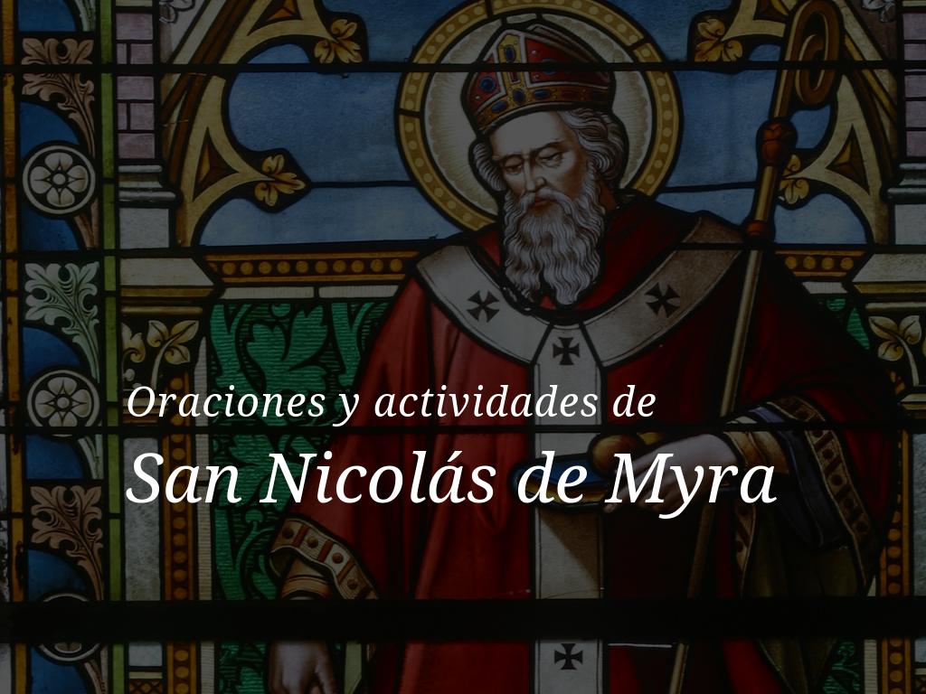 Oraciones y actividades de San Nicolás de Myra