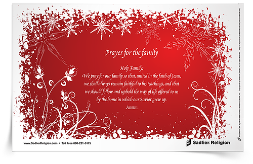 Catholic Christmas Prayers -- Prayer for the Family