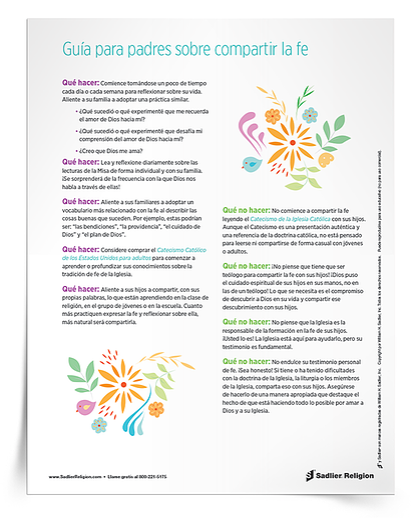 Descargue un libro electrónico con diez cosas simples que se deben y no se deben hacer al compartir la fe para padres, y así ayudarlos a compartir la fe con sus hijos durante el verano o en cualquier época del año.