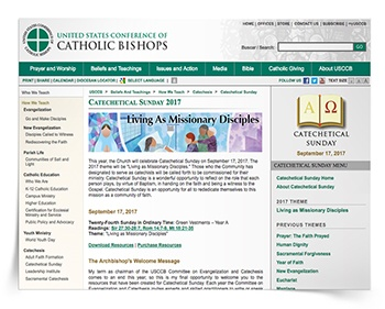 Catechetical Sunday 2017 Resources from USCCB
