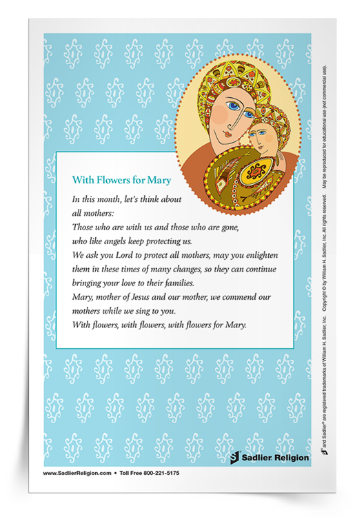 image regarding Prayer Cards Printable titled Components for the Thirty day period of Mary Totally free Printable Mary