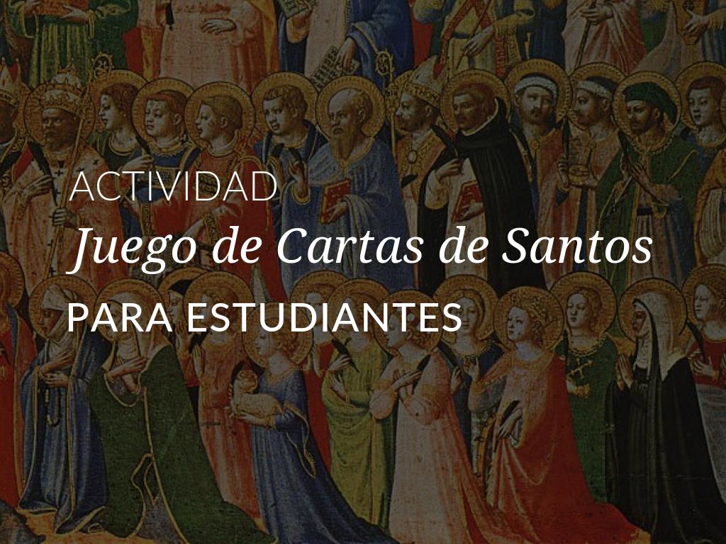 Para celebrar a los santos y a nuestro mejor santo durante el Tiempo Ordinario, descargue la Actividad Juego de Cartas de Santos para compartir con los estudiantes de su programa de educación religiosa.
