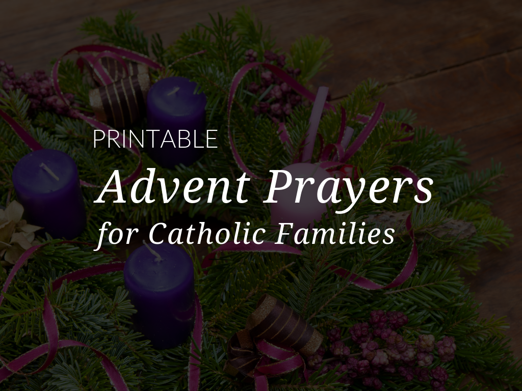 The liturgical year begins with Advent, the four weeks prior to Christmas. It is a season of preparation, waiting, and anticipation. Download and print these free Advent prayers for families to celebrate this joyous season.
