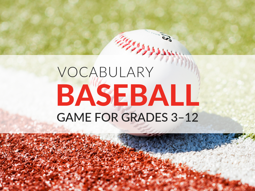 Opening day for Major League Baseball was March 28th. This is the perfect time of year to play the Vocabulary Baseball Game! This vocabulary game is guaranteed to be a home run with students! Download and print now.