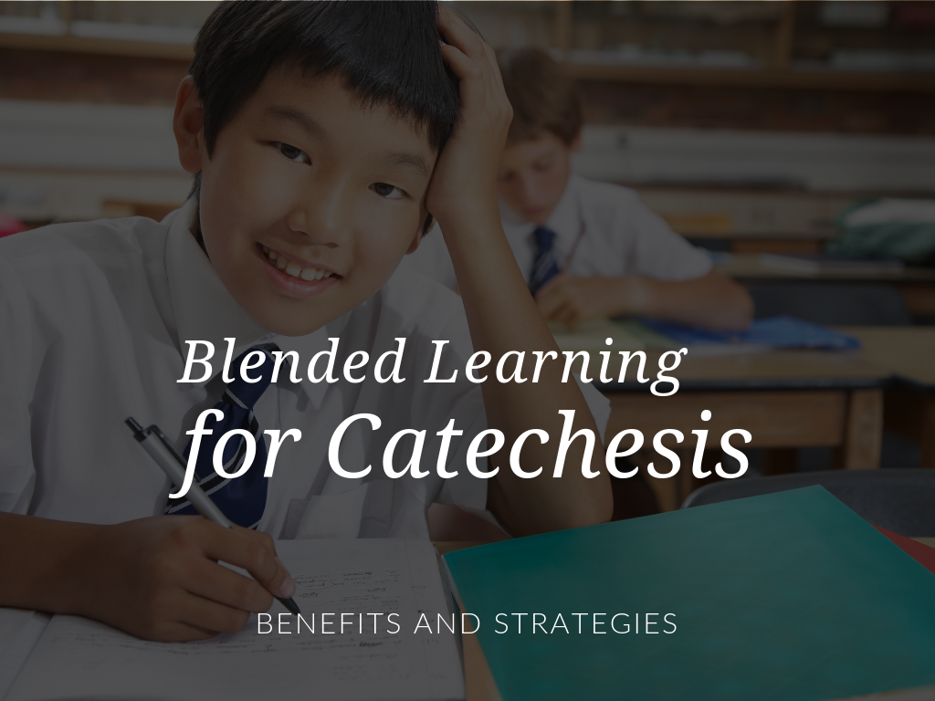 A blended approach can support and enhance catechetical efforts in school, parish and home settings. Are you ready to implement a blended learning model for religious education? In this article, guest author Steve Botsford, MBA, MRE outlines how using a blend of traditional instruction and educational technology can enhance promoting the Gospel and Gospel values. Plus, download a free Blended Learning for Catechesis Checklist and Action Plan in English or Spanish.