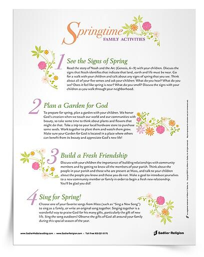 Care for God's Creation Printables for Catholics - Springtime Activities for Families