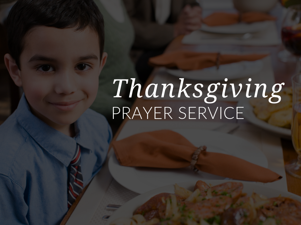 Use the Catholic Thanksgiving Prayer Service in this article to encourage children in your religious education class, parish, or home to express gratitude for their many blessings. Download available in English and Spanish.