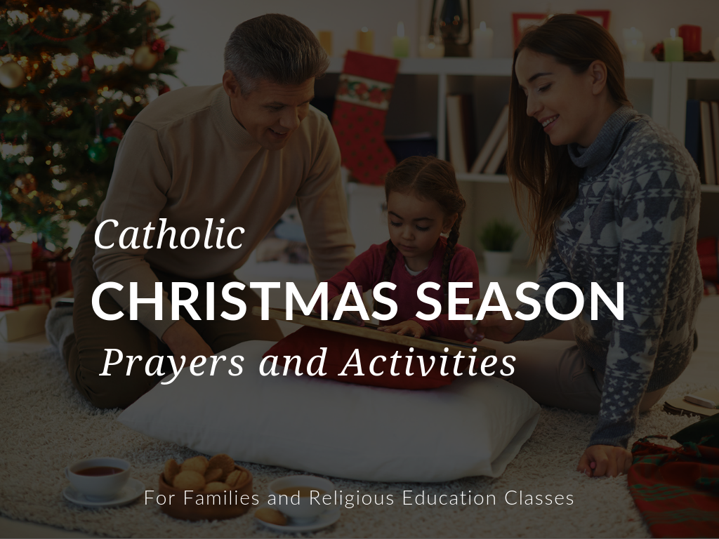 In this article, you'll discover amazing printable Catholic Christmas season prayers and activities you can download in English and Spanish.
