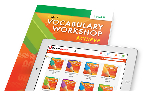 Vocabulary Workshop Achieve provides a variety of activities and games to help students see these roots/suffixes/prefixes as an extension of their vocabulary learning that can help students become better word detectives.  When using Sadlier's Vocabulary Workshop Achieve program, each review unit contains a Greek/Latin root practice page highlighting a specific root. All of these activity pages can be completed in one lesson, perhaps by assigning one page to each student in a group, and then each group member reports out. Thereby, students can really start to understand the way much of our language developed.