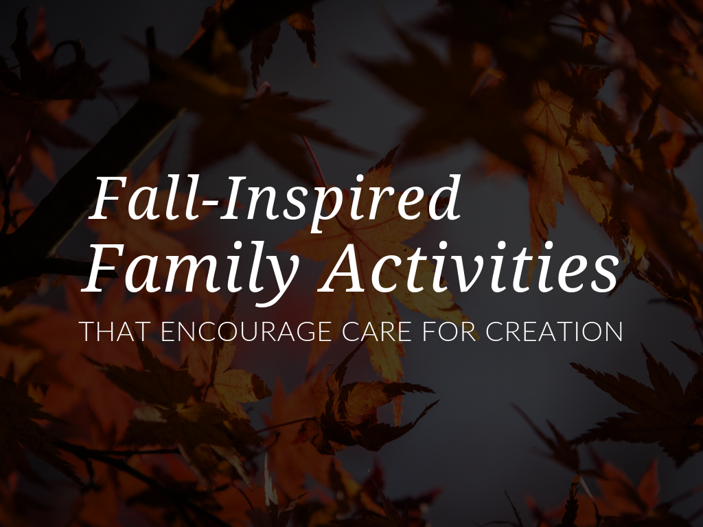 "Help families to fulfill their role as this ""first school"" with suggestions for fun fall activities that simultaneously encourage faith sharing and care for creation."