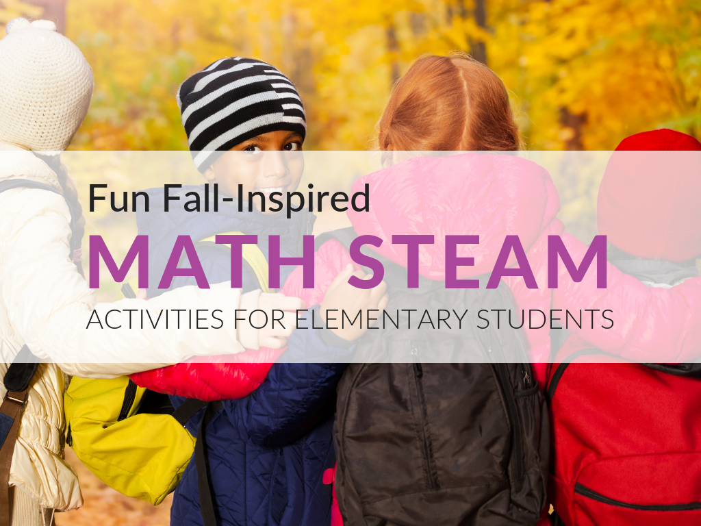 Whether you are in an area that has beautiful fall foliage or not, you'll find everything you need in this article to implement these fun math STEAM  activities for elementary students in your classroom. In addition, I have compiled all of my STEAM worksheets into a free printable 20-page lesson plan. Download the Fall-Inspired Math STEAM Lesson now.