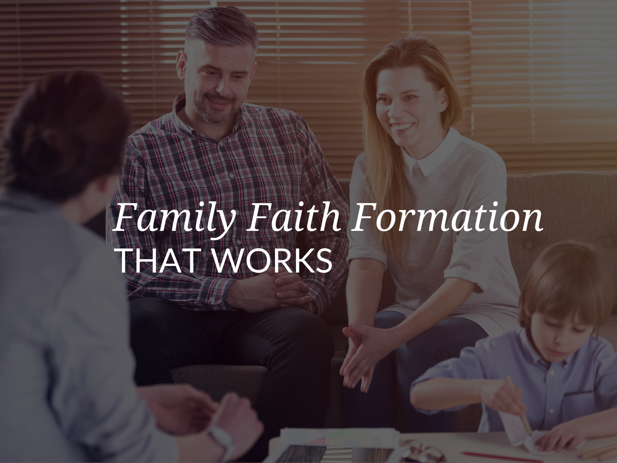 """John Collins will delve into ways to put """"family"""" into """"faith formation"""" by equipping parishes with resources and engaging and enabling parents to form their children in the Catholic faith."""