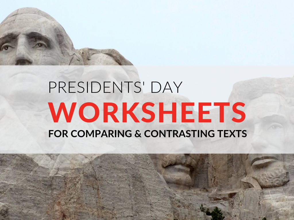 One skill my students seem to struggle with across grade levels is comparing and contrasting texts. In honor of Presidents' Day, I use the following compare and contrast activity using George Washington and Abraham Lincoln texts to give my students extra practice. Plus, download my free Presidents' Day worksheets so you can complete this comparing and contrasting texts activity in your classroom!