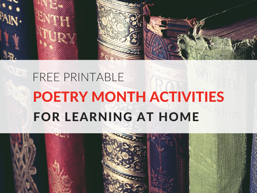 Free Printable Poetry Activities for Learning at Home