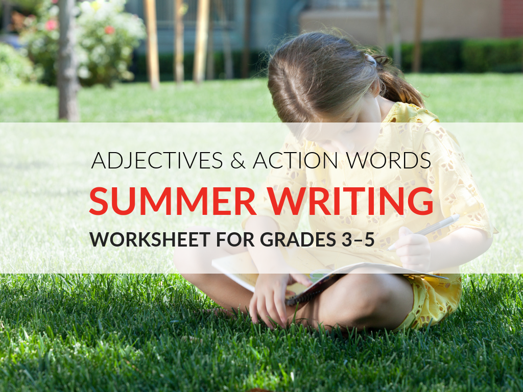 Summertime can be filled with adventures. Capturing those adventures through descriptive writing is a great way to keep students writing and thinking about language this summer. With my free printableCombining Adjectives and Action Words Activity students will combine adjectives and action words to write a descriptive summertime story.