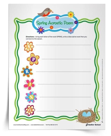 fun-grammar-worksheets-for-spring-acrostic-poem-750px