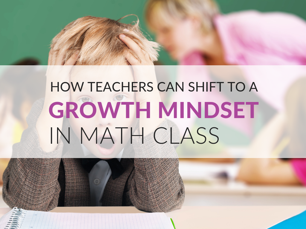 Teacher Mindset Is The Key To A Growth Mindset Shift In Students! Dr. Beyranevand shares how to promote growth mindset in math. Growth mindset lesson planning tips. Communicating with a growth mindset.