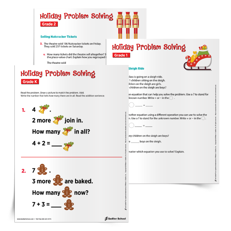 Free PDF Holiday Math Worksheets For K–6 (Winter & Christmas Theme)