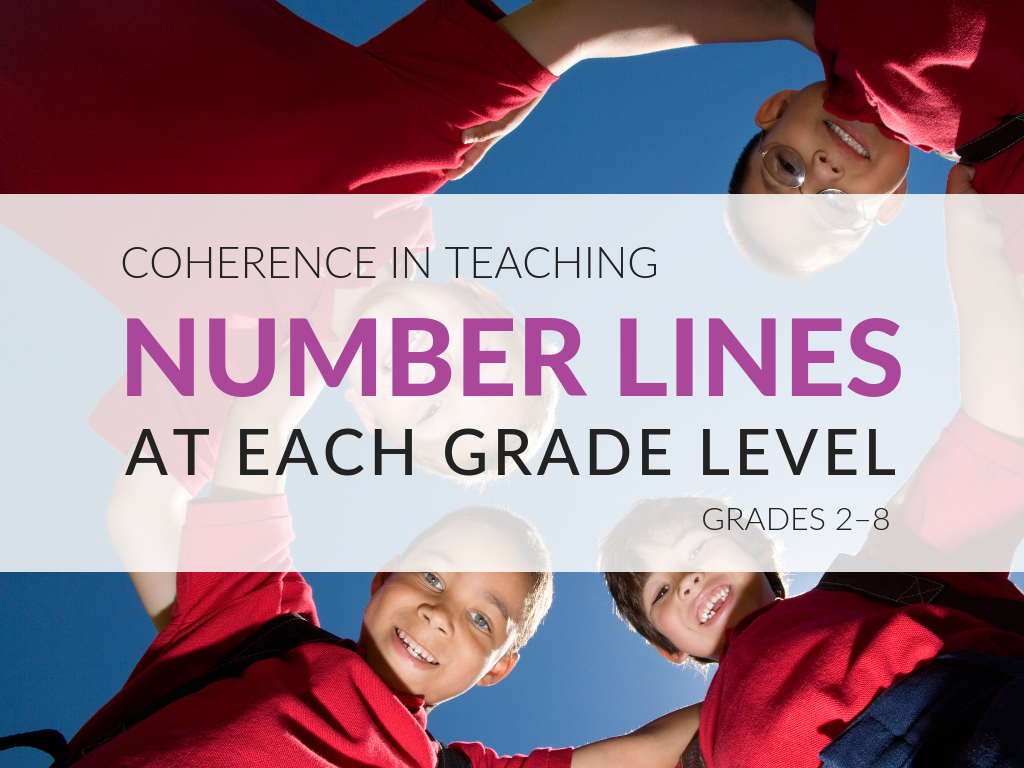 Number lines, as a form of representation, help students learn about and explain their developing reasoning about numbers. They allow for coherence across the curriculum, as students deepen their knowledge of the number system and continue to use this familiar representation in increasingly sophisticated ways. The download for this post includes an exhaustive list of ways the number line should be used at each grade level.