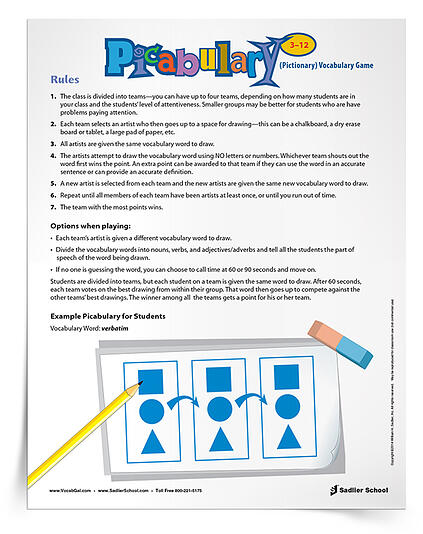 how-to-teach-students-kids-vocabuolary-at-home-during-coronavirus-pictionary-printable-game