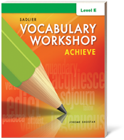 Vocabulary Workshop Achieve
