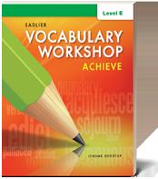 Vocabulary Workshop Achieve