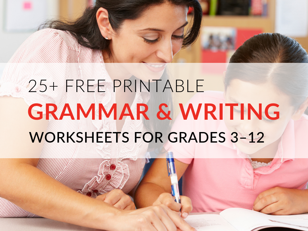 Teachers, literacy coaches, principals, and administrators all want to improve the writing of students. The ability to write effectively and communicate ideas through writing are essential for working in the real world. Outside of writing instruction, students need dedicated time to practice the skills and strategies necessary to become effective writers.  Here are 29 printable grammar worksheets you can download and print for your classroom!