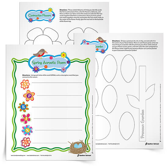 4 Spring Worksheets To Keep Students Engaged In Grammar And Writing