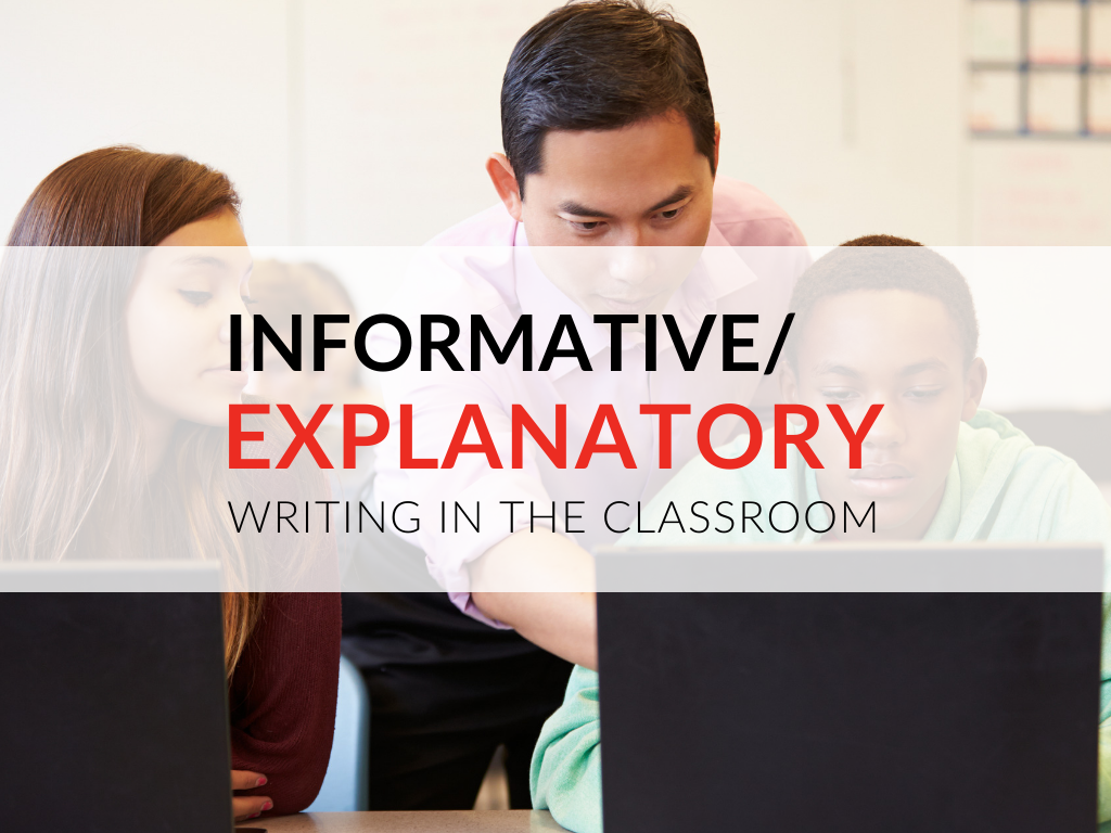 The primary purpose of informative/explanatory writing is to increase knowledge. When writing an informative/explanatory text, the writer answers questions of why or how. Informative writing educates the reader by imparting straightforward information on a certain topic. Unlike other types of writing, informative writing does not aim to change the reader's thinking or move the reader to take action.