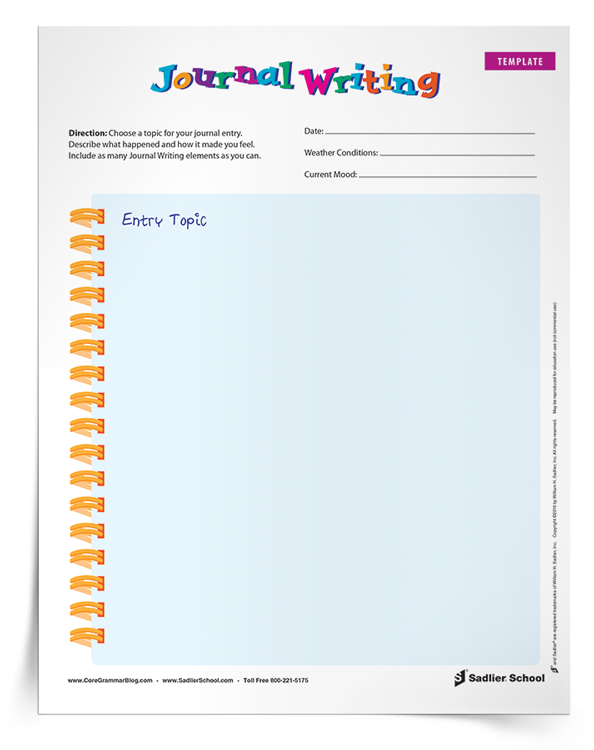 Journal writing is an open-form type of writing that can be taught in the classroom. Journal writing can be informal which makes it popular to countless students, especially those who might not consider themselves writers. Download a template students can use to engage in journal writing!