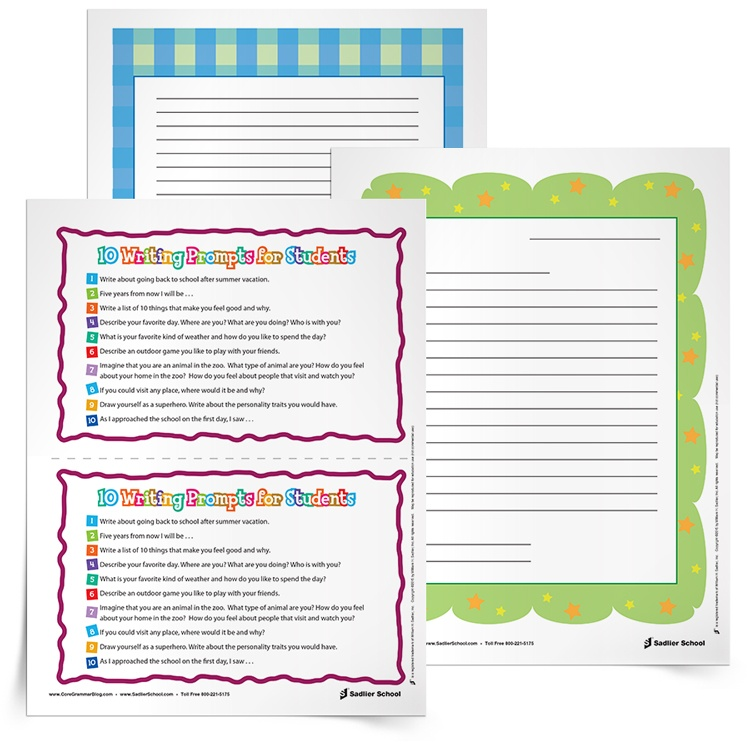 photo about Printable Writing Prompt named Again-Towards-Higher education Composing Prompts [Involves Printable Worksheets]